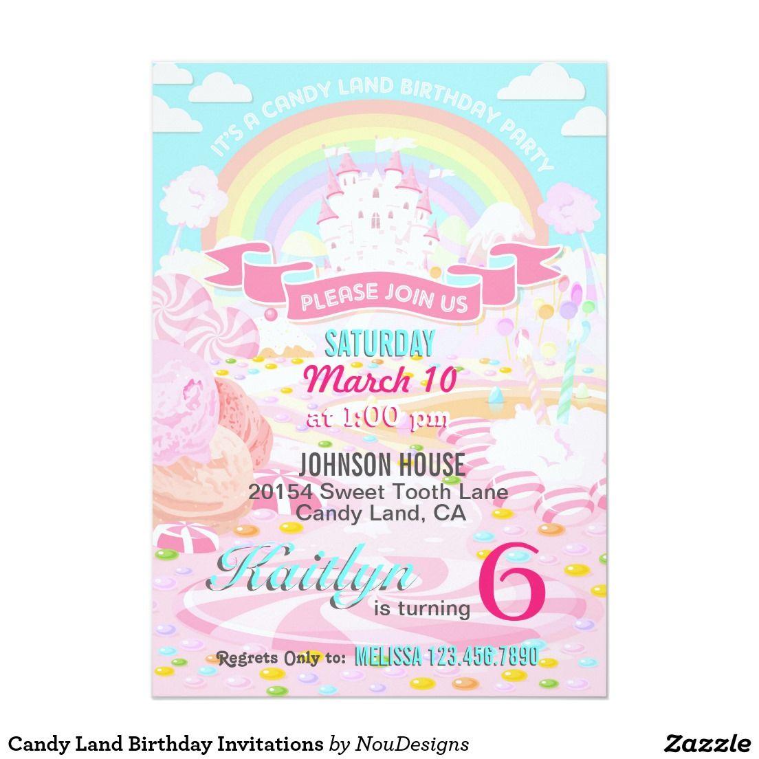Candy land birthday invitations candy land birthday candy land birthday invitations stopboris Images