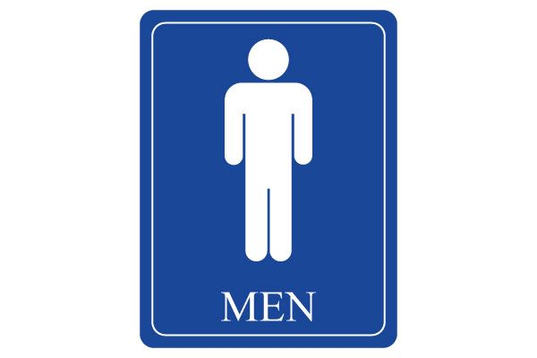 Printable Men Restroom Sign For Restrooms PDF Free