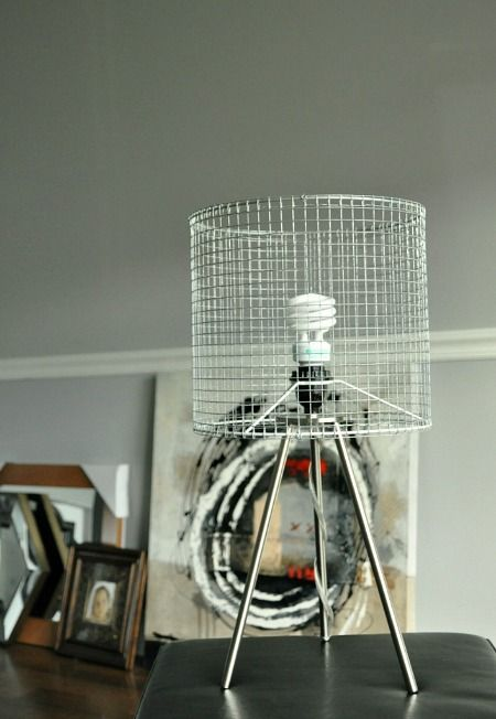 Industrial modern wire lampshade tripod lamp diy alt knowledge diy lamp shade industrial modern wire lampshade tutorial you could also use this frame idea cover it w brown paper or any papermaterial really keyboard keysfo Choice Image