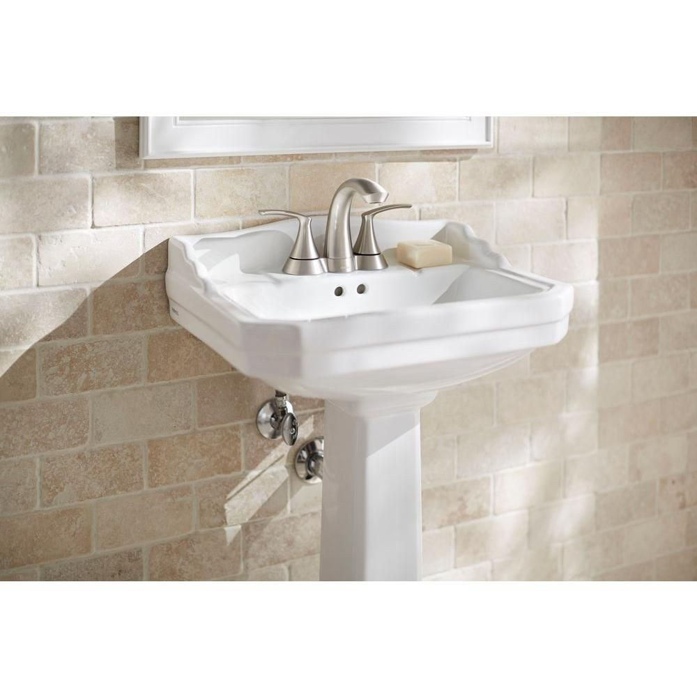 Foremost Series 1920 Pedestal Combo Bathroom Sink In White Fl 1920