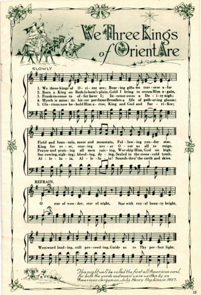 We Three Kings Of Orient Are Christmas Sheet Music Christmas