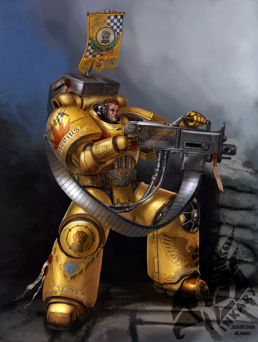 Imperial fists devastator sergeant by inkary on deviantart wh40k c o the praetorian - Imperial fists 40k ...