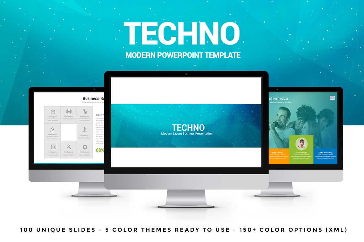 Techno powerpoint template by flyer king on creative market places techno powerpoint template by flyer king on creative market toneelgroepblik Images