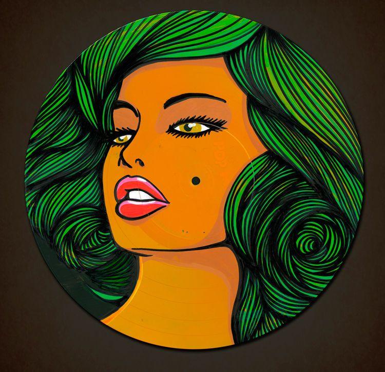 Disco de Vinil Ilustrado - Pow Pow