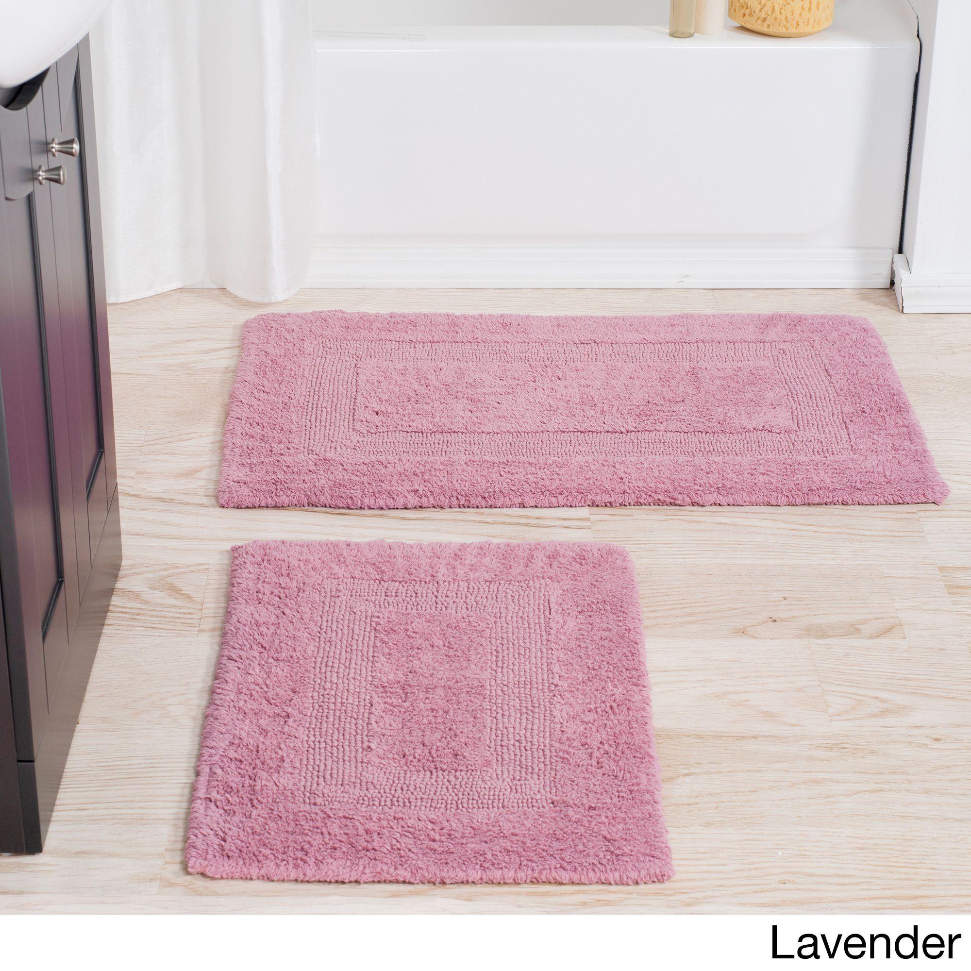 Windsor Home 100 Percent Cotton 2 Piece Reversible Rug Set Reversible Bath Rugs Bath Rugs Sets Rug Sets