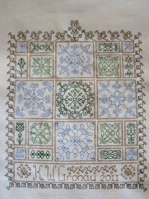 Earth Colors Blackwork Sampler | Pinterest | Bordado, Tejido y Puntos