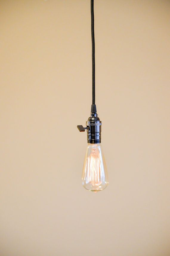 Hanging Pendant Lamp Industrial Style Open Socket On Etsy 59 00