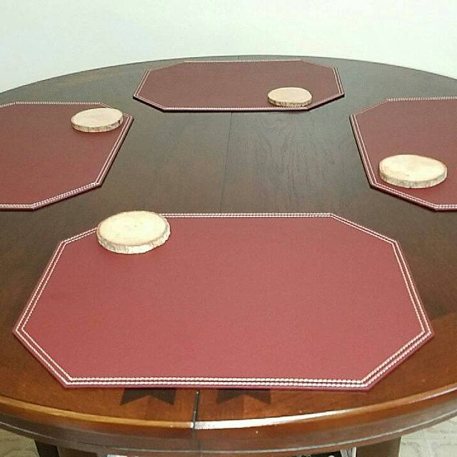 Superb From Nikalaz On Etsy: Leather And Recycled Leather Placemats, Coasters, Mats