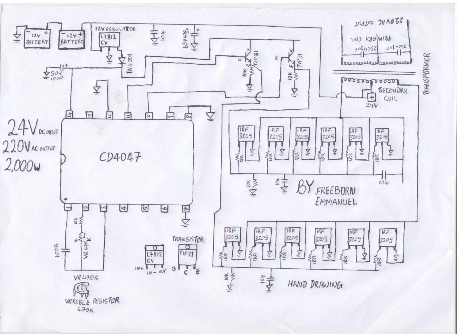 [DIAGRAM_1JK]  how to build a 2KVA inverter circuit diagram : 2000 watt inverter circuit  diagram/ 24V 2KVA ci… in 2020 | Circuit diagram, Electrical circuit diagram,  Electronic schematics | 2000 W Inverter Circuit Diagram |  | Pinterest