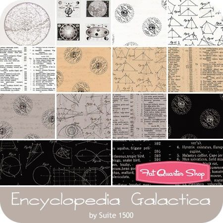 Andover Encyclopedia Galactica by Suite 1500 A 8341 N COTTON FABRIC  BTY