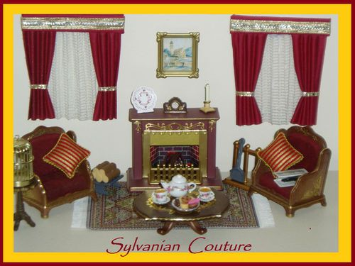 Sylvanian Families Decorated Vintage Living Room Set Plus Many Accessories  | EBay