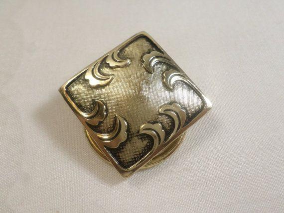 West Germany Vintage Gold Silver Tone by deniseleesgems on Etsy
