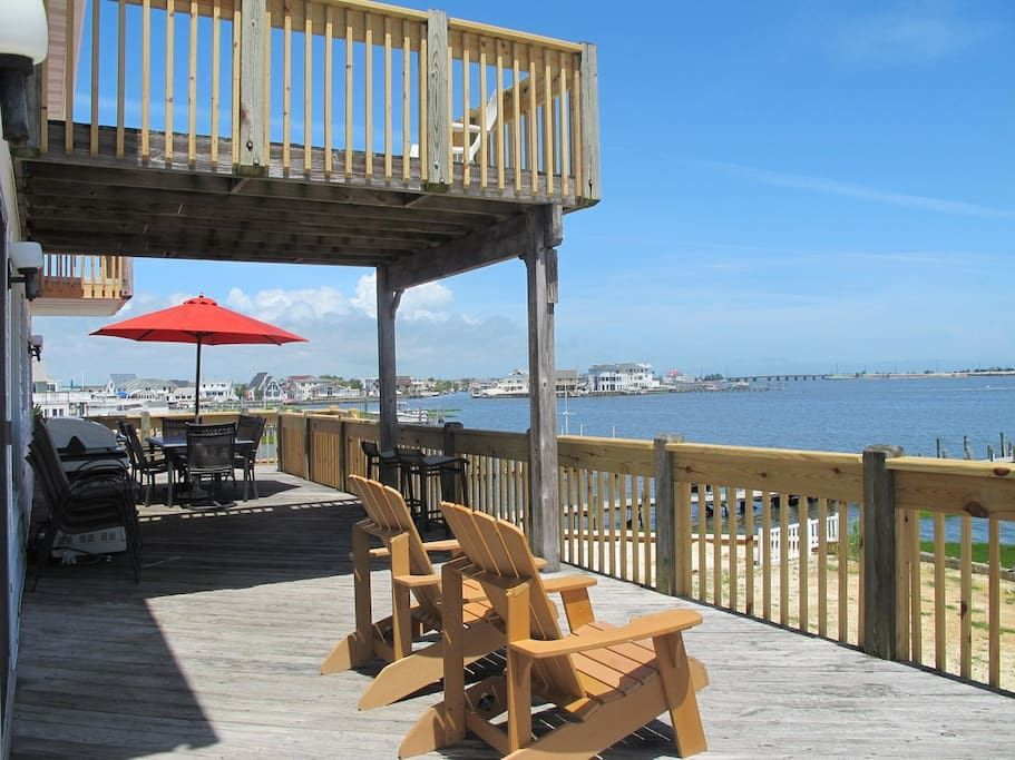 Bay front home amazing view great lbi location