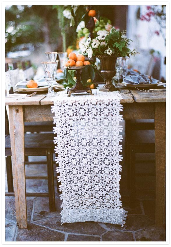 inspiration | simple lace table runners