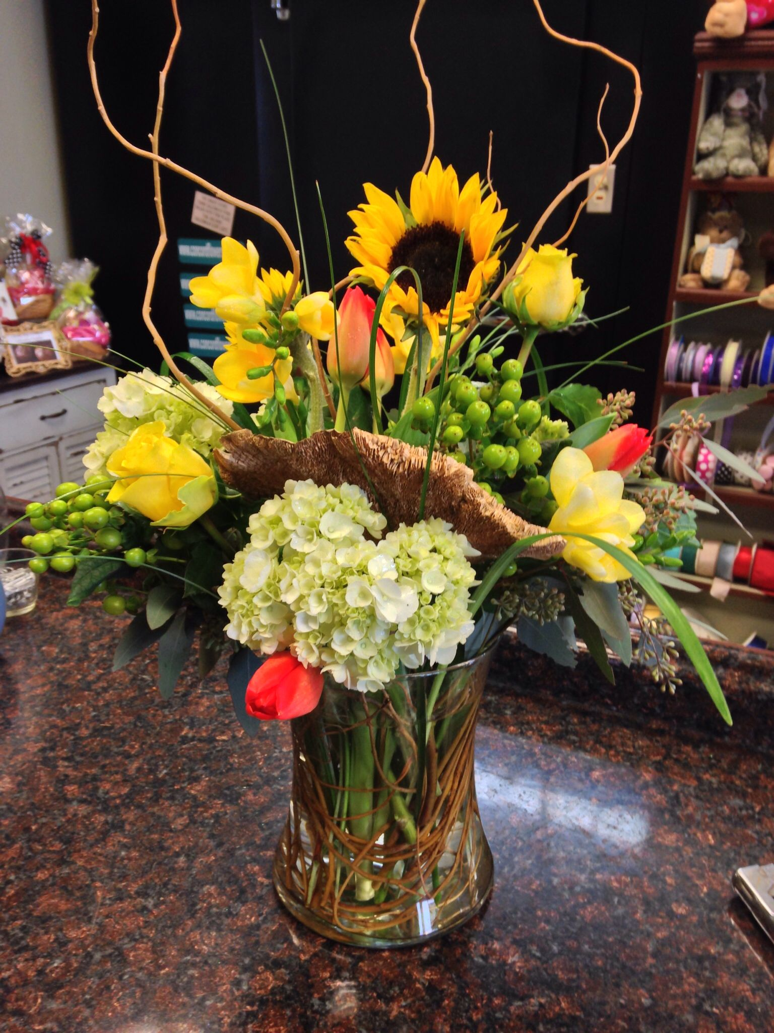Natural Elements With Bright Spring Flowers Birthdays Pinterest