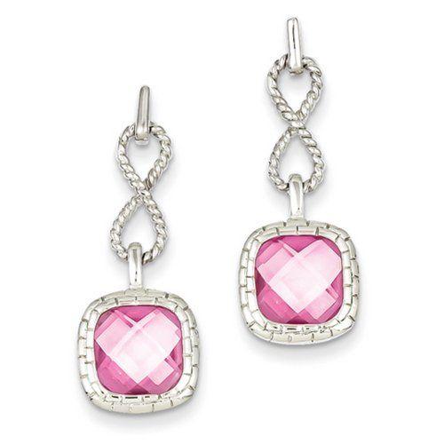 IceCarats Designer Jewellery Sterling Silver Pink Square Cz Post Dangle Earrings IceCarats http://www.amazon.co.uk/dp/B00KHFMAXS/ref=cm_sw_r_pi_dp_O3XGub1WQ66SF