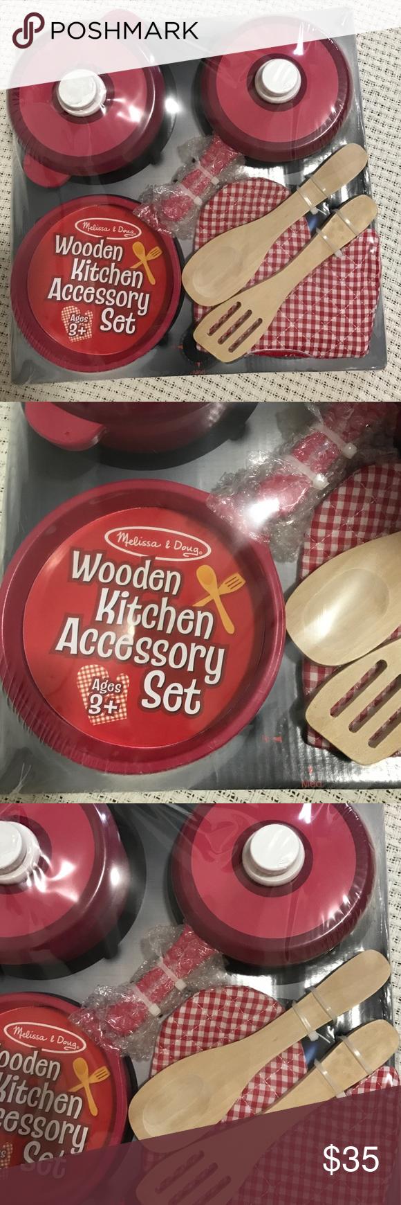 Melissa & Doug Wooden Kitchen Accessory Set Product Description ...