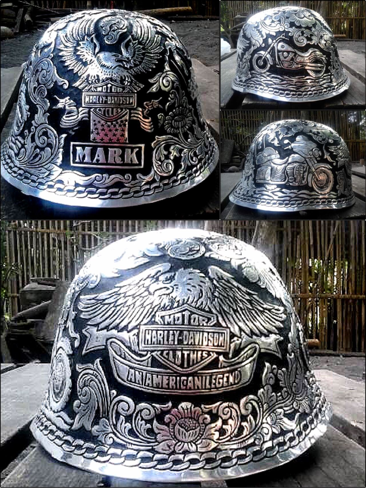 cc113380 #engraved #hardhat with #HarleyDavidson images Hard Hats, Custom Engraving,  Harley Davidson
