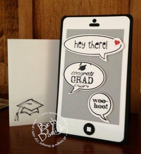 Graduation Smartphone Card, from spacecoaststamper.com