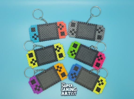 Nintendo Switch Keychains | Perler Keychains | Video Game Keychains | Custom Made | Party Favors | Keychains | Gamers | Birthday Party