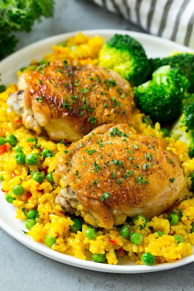 Arroz con Pollo Recipe | Chicken and Rice Recipe | Spanish ...