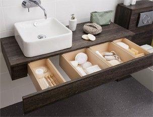 Edge 1200 single drawer console unit ebony in dark wood - Muebles bano bauhaus ...
