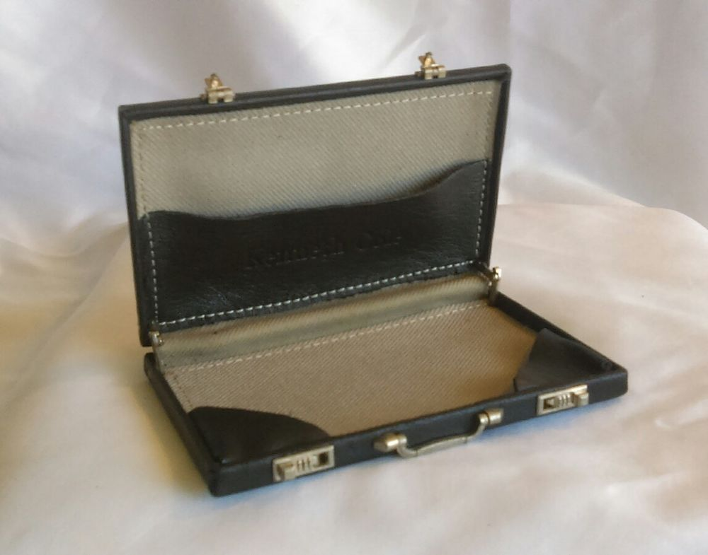 Vintage Kenneth Cole Business Card Case Mini Briefcase | Business ...