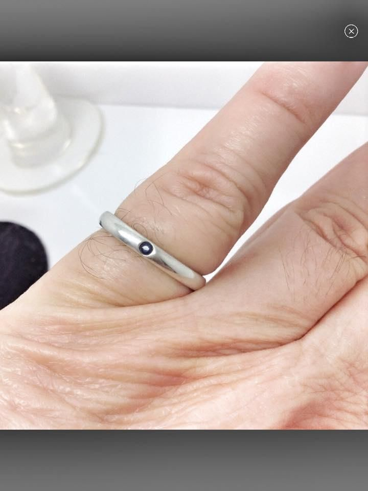 f4cff4079 Free shipping and guaranteed authenticity on size 6.5, Tiffany & Co, Elsa  Peretti, sterling silver, sapphire ringWith this Tiffany and Company, ...