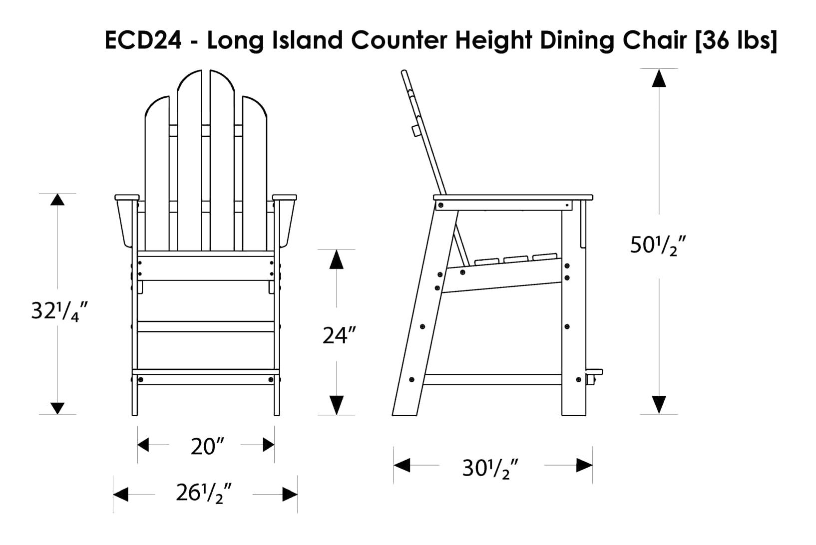 POLYWOOD+Long+Island+Counter+Chair+