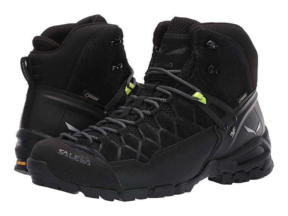 Salewa Alp Trainer Mid Gtx R Men S Shoes Black Black Black Shoes Men Mens Shoes Black Mid Boots