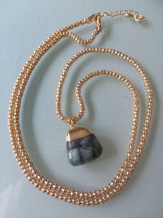 SOLD Emerald necklace by SheRocksGemjewellery