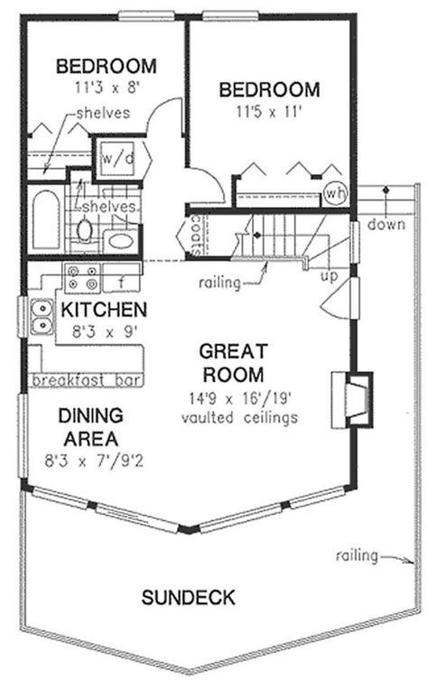 Nice Floor Plan Sleeping Loft With Storage Upstairs But No 1 2 Bath Cabin Plans With Loft House Plan With Loft Cabin Floor Plans
