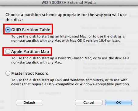 List of Mac bootable WD hard drive - includes WD My Passport Studio