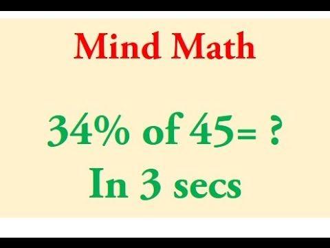 Percentage Trick Solve Precentages Mentally Percentages Made