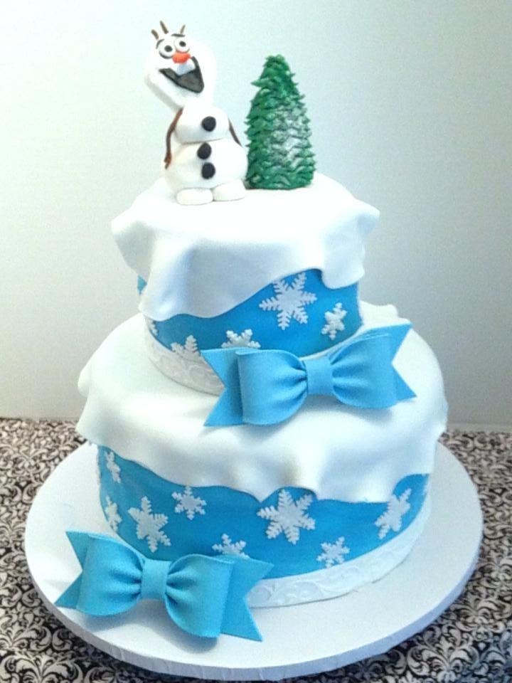 Frozen birthday cake FrozenOlaf themed birthday cake for twin