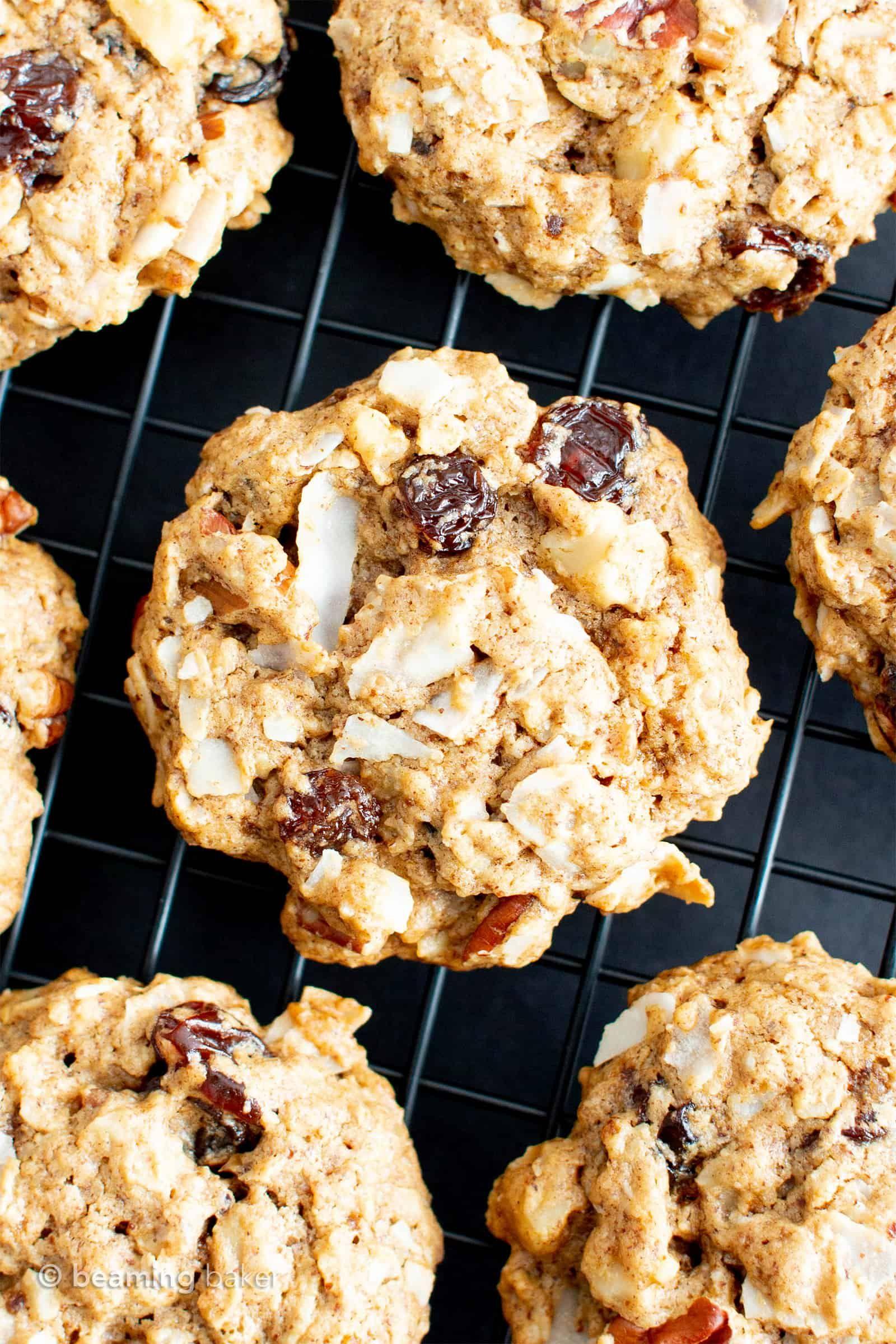Healthy Coconut Oatmeal Breakfast Cookies Vegan Gluten Free