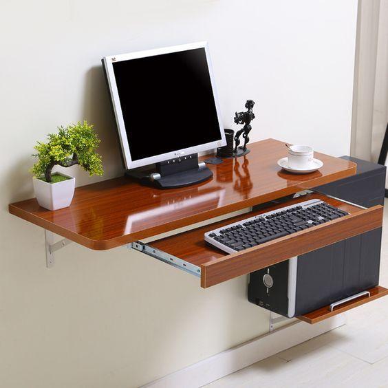 Simple Home Desktop Computer Desk Simple Small Apartment New Space Saving Wall Table Dekorasi Rumah Perabot Interior