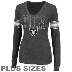 best website bb4e2 8de6f womens plus size oakland raiders long sleeve shirt. xxl 1x ...