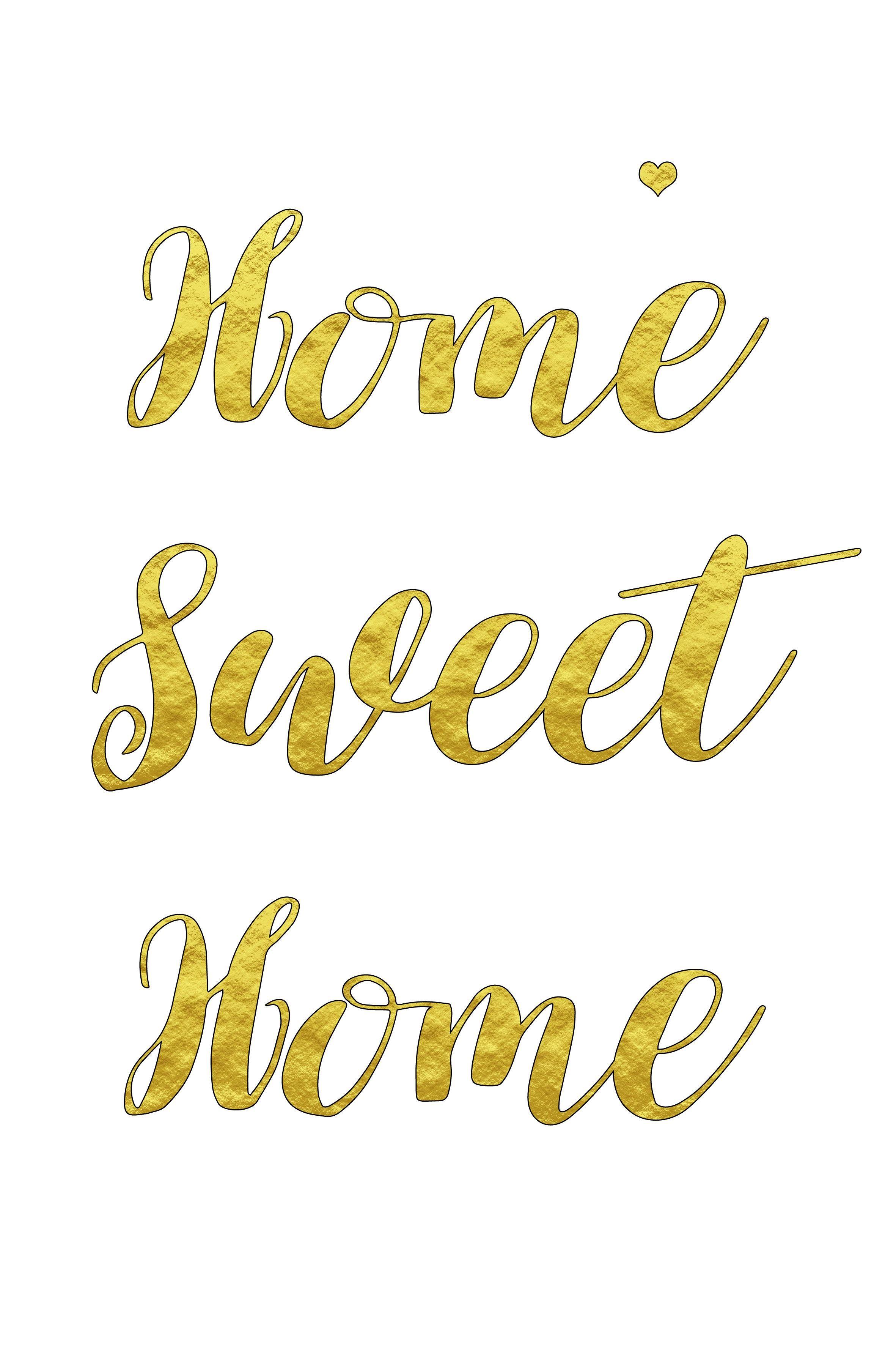 Home Sweet Home Plakat Sweet Home Plakat Kolory