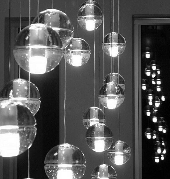 Led crystal glass ball pendant lamp meteor rain ceiling lights 1 3 5 bocci led crystal glass ball pendant lamp meteor rain ceiling light 1 3 5 7 14 aloadofball Gallery