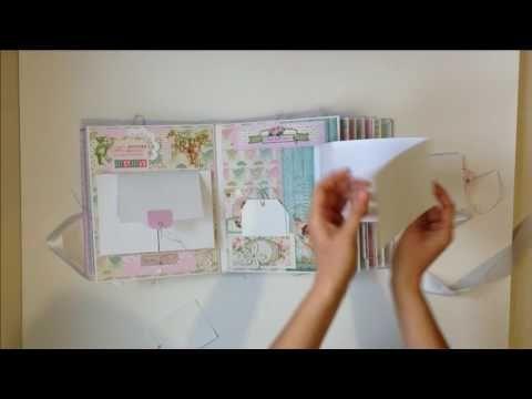 (39) Скрапбукинг Большой альбом для девочки на 300+ фото / Baby Girl First Year scrapbook album - YouTube