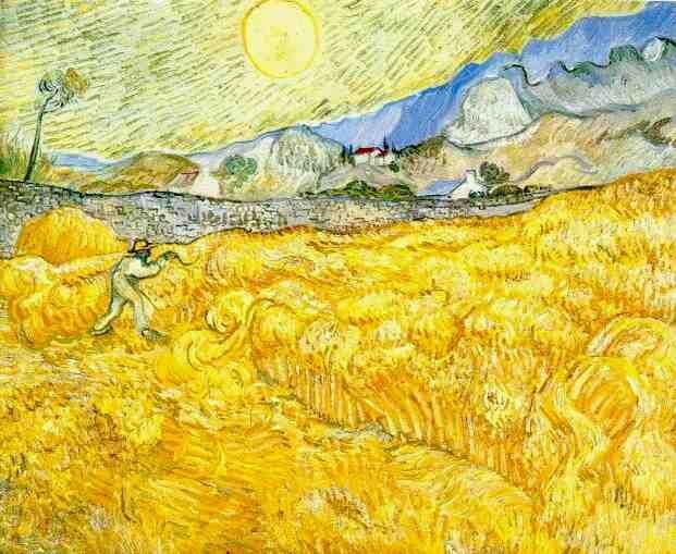 Bouquet Arc en Ciel / jaune / montagnes / champs / paysage ...