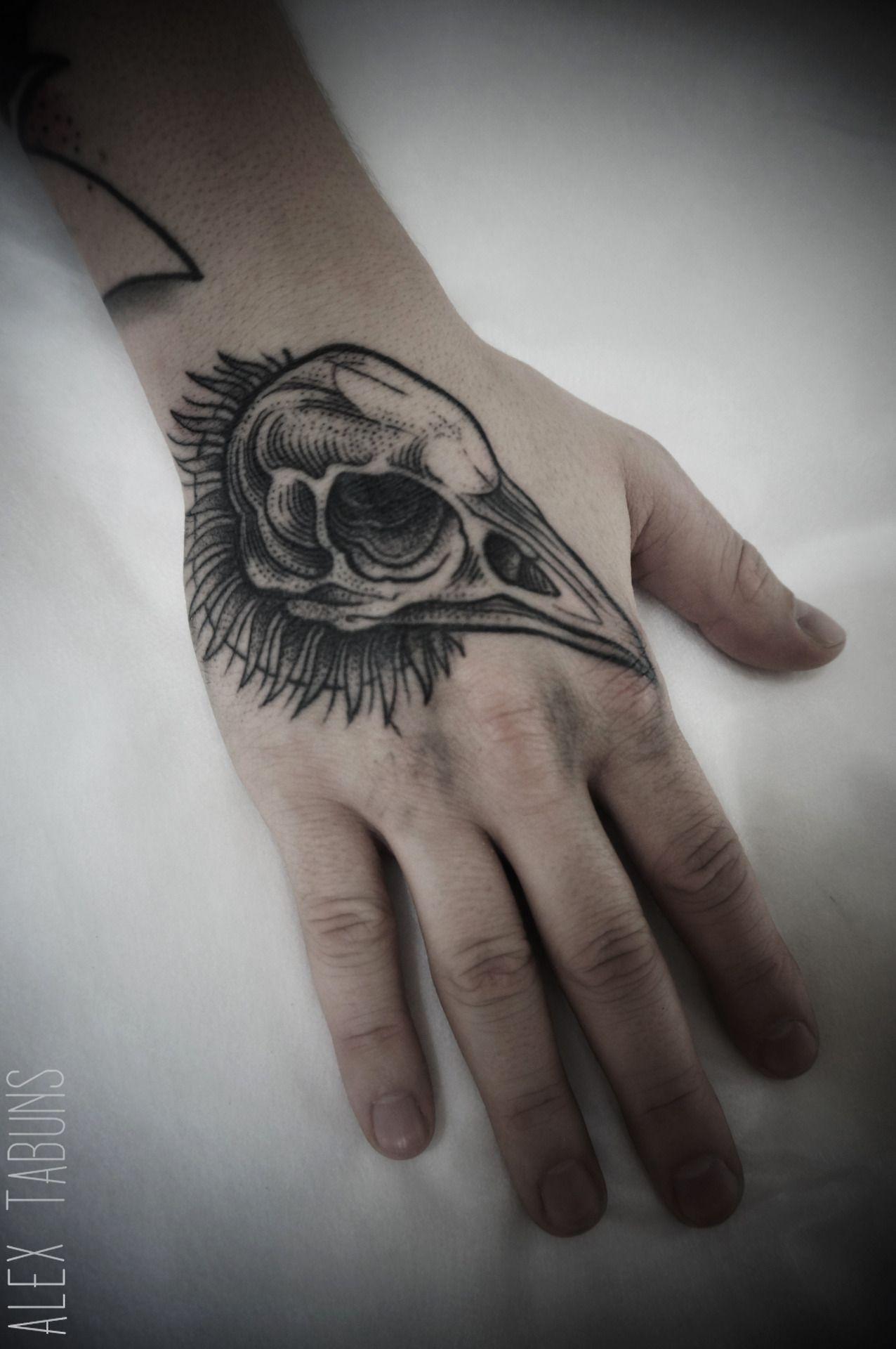 Alex Tabuns crow skull tattoo | Corvids | Pinterest | Alex ...