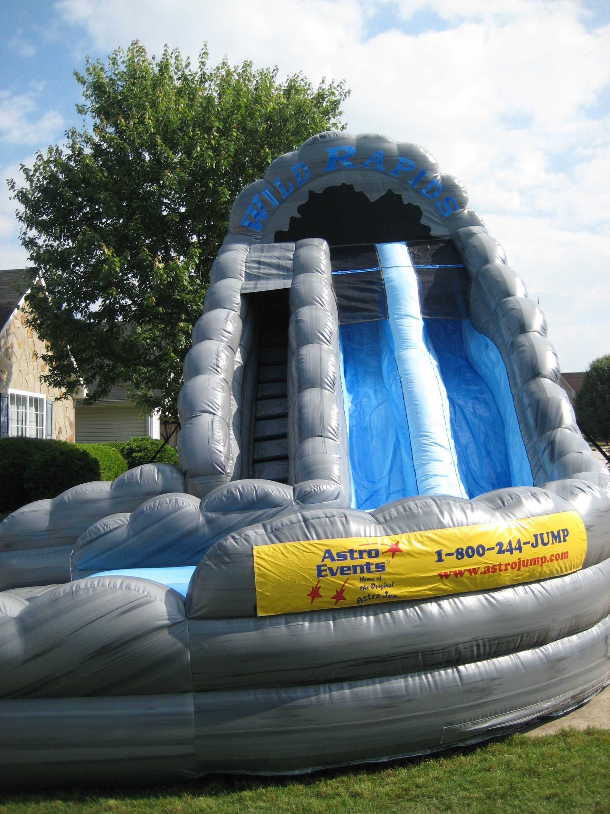 18 dual lane wild rapids waterslide with poolrent this