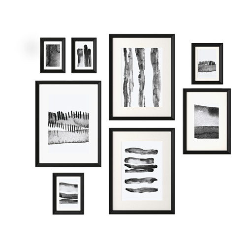 KNOPPÄNG Frame with poster, set of 8, black | Pinterest | Collage ...