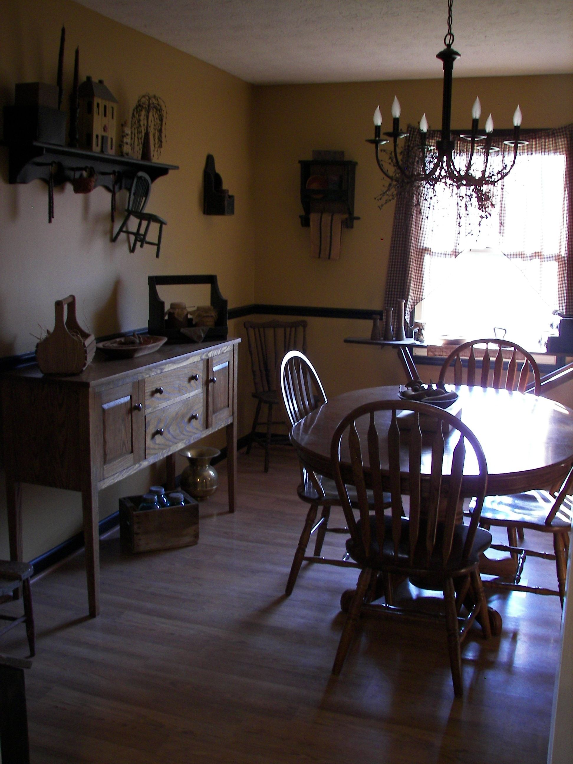 My Primitive Dining Room Primitive Dining Rooms Rooms
