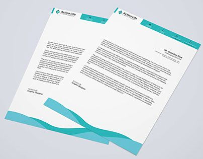 Free Download Letterhead Psd  Resume Template    Template