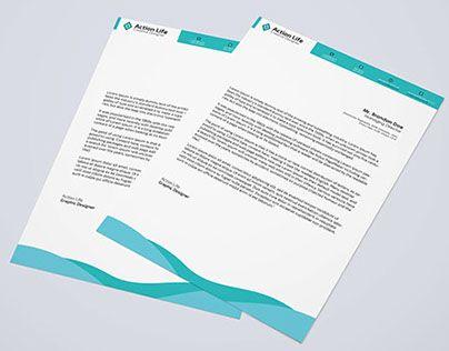A4 Letterhead Pad Resume Template Pinterest