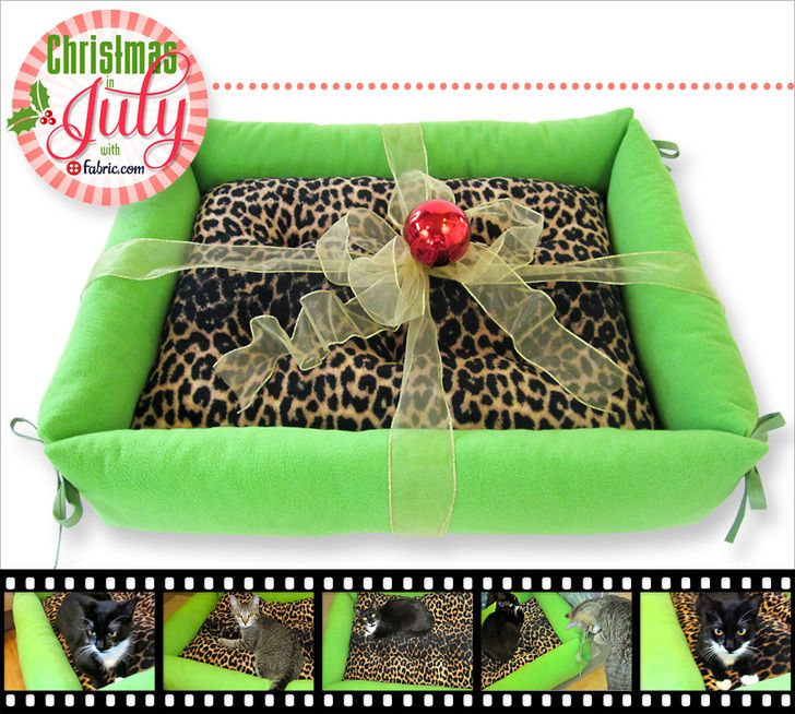 Comfy Pet Bed with Bolster Sides: Christmas in July with Fabric.com ...