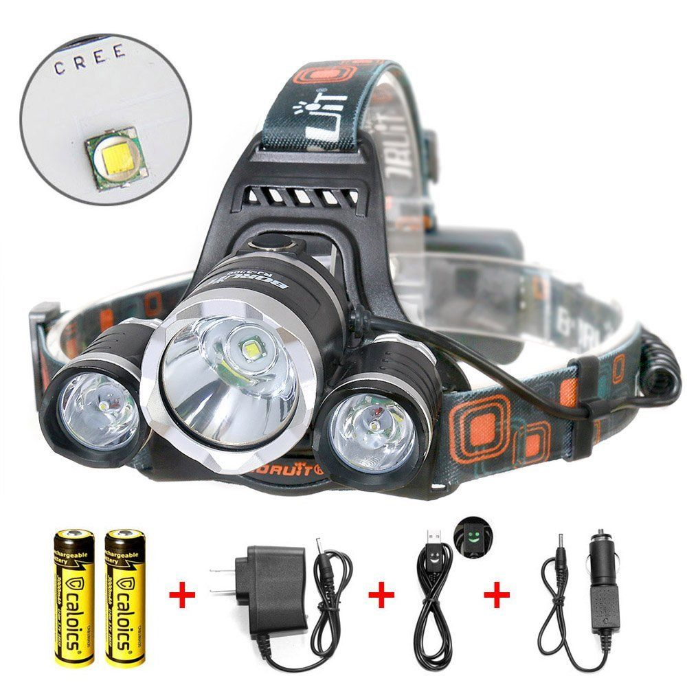 67445e8be01311 ... T6 LED Super Bright Flashlight for Hunting, Camping, Night Fishing,  Running, Reading, Kids, Perfect Hands-free Rechargeable Waterproof Work  Light * This ...